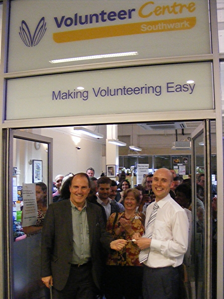 Simon Hughes MP opens Volunteer Centre Southwark's new Elephant & Castle base