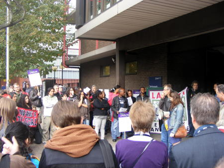 Union highlights 'poverty pay' for cleaners at London South Bank University