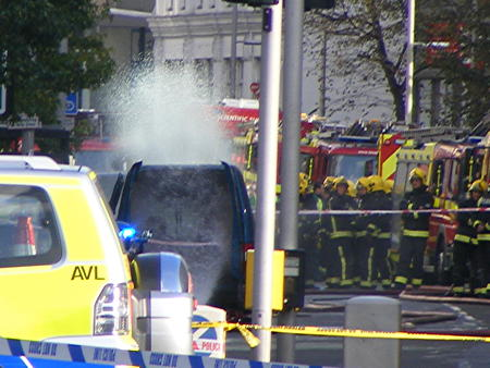 Southwark Street shut as firefighters clean up chemical spill