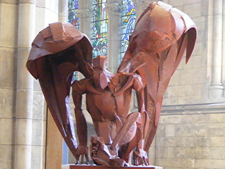 Sophie Dickens' Four Evangelists sculptures at Southwark Cathedral