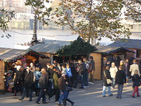 Christmas market now open on the South Bank