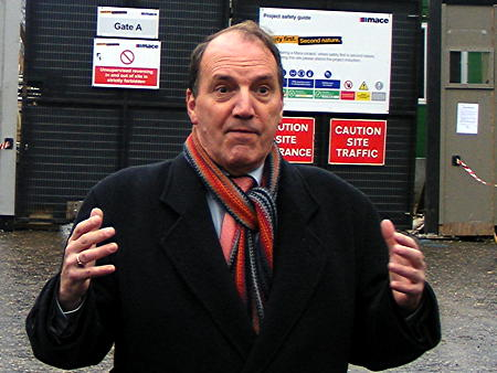 Simon Hughes joins 'Lorries for Savvy Cyclists' event at Bankside