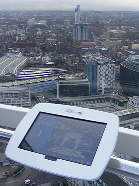 Tablet computers installed in London Eye capsules