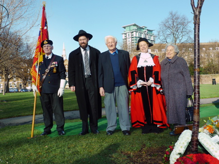 Holocaust Memorial Day ceremony held in Geraldine Mary Harmsworth Park