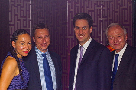 Baroness King, Lohan Presencer, Ed Miliband and Ke