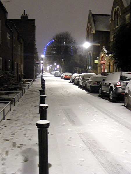Roupell Street in the snow