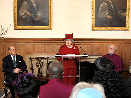Queen visits Lambeth Palace for Diamond Jubilee reception
