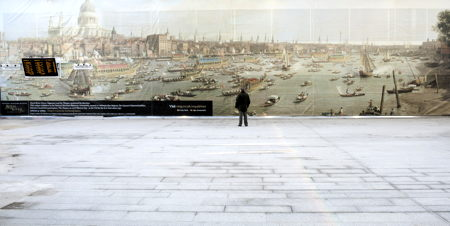 30-metre Canaletto Thames scene goes on display at London Bridge