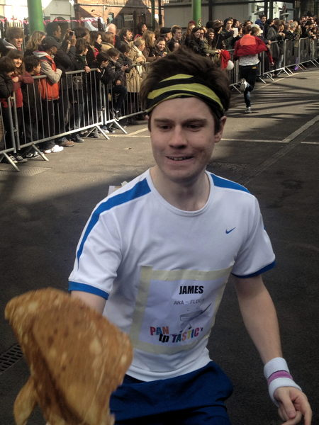 Glaziers Hall team wins Better Bankside pancake race