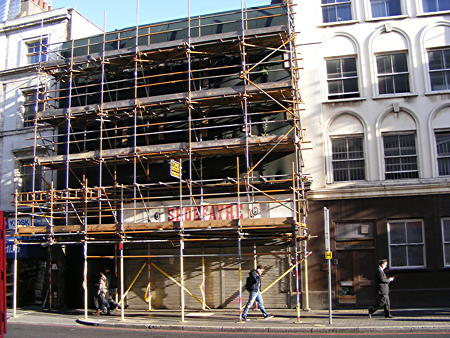 Borough High Street scaffolding to be dismantled after seven years