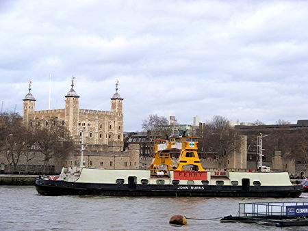 Woolwich Ferry pays overnight visit to Pool of London
