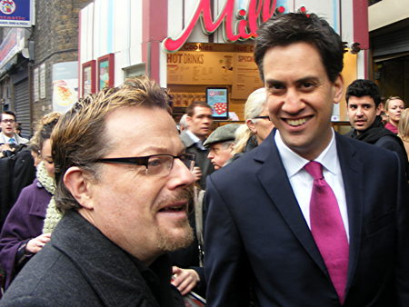 Eddie Izzard and Ed Miliband