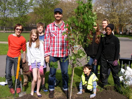 Rowan tree planted in Archbishop's Park