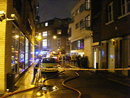 Firefighters in Magdalen Street
