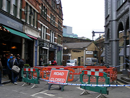 Stoney Street shut after crater appears outside Borough Market