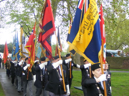 Victory Day commemorations at Southwark's Soviet War Memorial