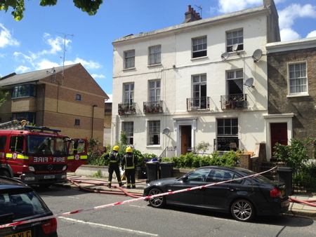 Hercules Road shut as firefighters tackle house fire