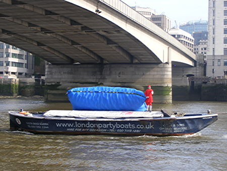 Balloons released from Thames barge to launch RIB Tours London