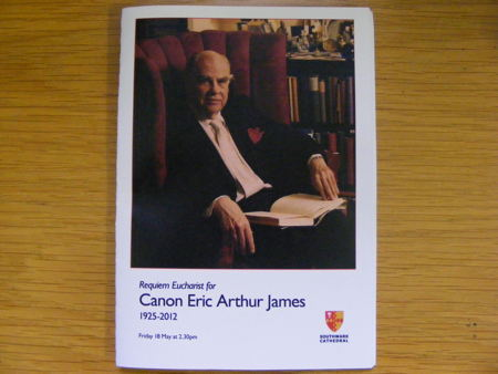 Funeral of Canon Eric James at Southwark Cathedral