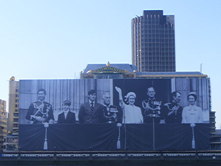 South Bank's Sea Containers House covered by giant royal picture