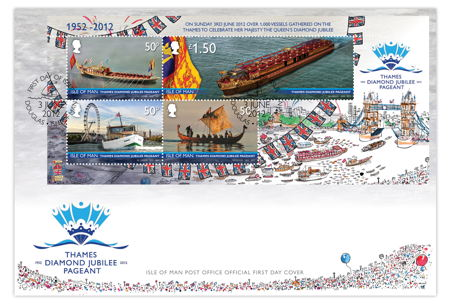 London Eye features on Isle of Man Diamond Jubilee postage stamps
