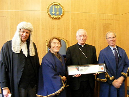 Archbishop of Southwark receives freedom of the City of London