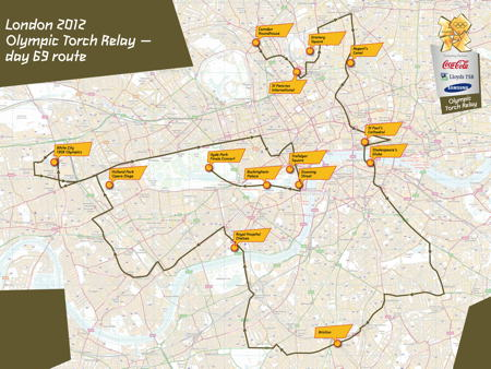 Millennium Bridge to Old Kent Road: Olympic torch route revealed