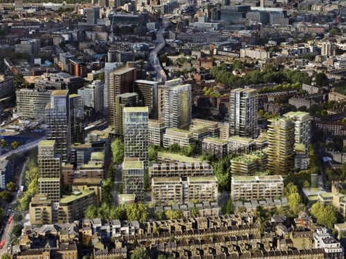 Elephant & Castle 2025? New image of completed regeneration project
