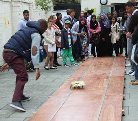 School pupils race solar cars at London South Bank University