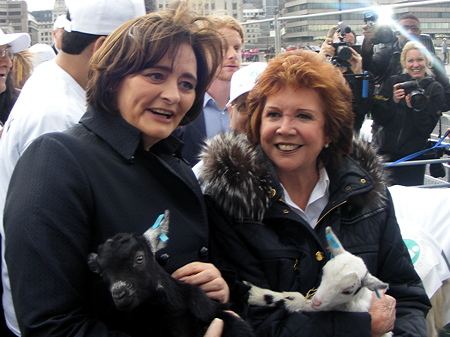 Cherie Blair and Cilla Black
