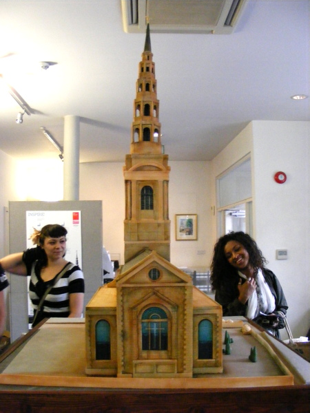 Sponge cake model of Wren church on show at SE1 architects' office