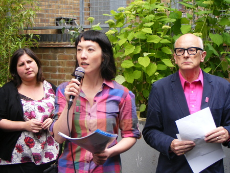 Anood Al-Samerai, Sarah Ichioka and Peter Murray