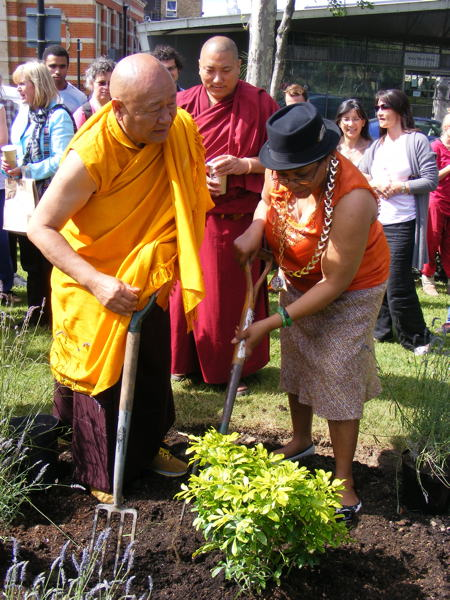 Lama Yeshe Losal Rinpoche and Althea Smith