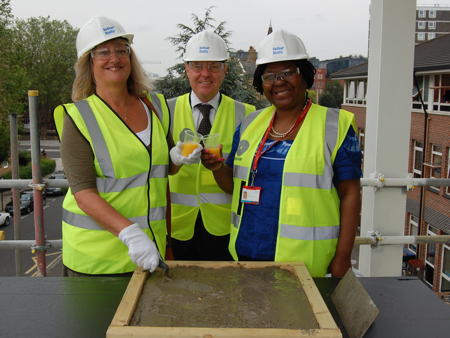 Topping-out ceremony for St Saviour's and St Olave's School extension