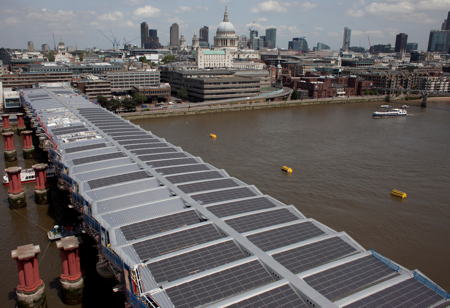 Work on Blackfriars Station's solar roof reaches half-way point