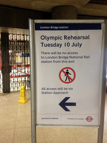 London Bridge Station holds second Olympics rehearsal