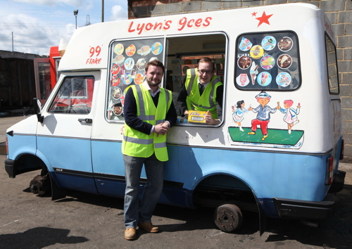 Lambeth Council crushes ice cream van seized on Westminster Bridge