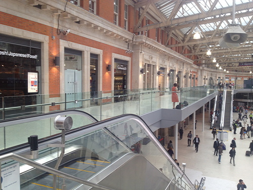 Waterloo Station's balcony shops now open