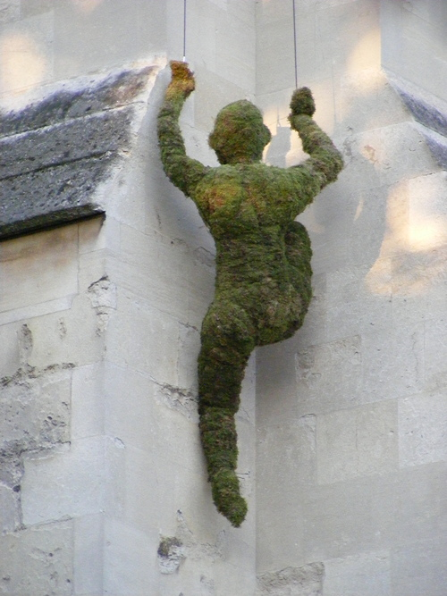 'Climber' scales Southwark Cathedral to promote flower festival