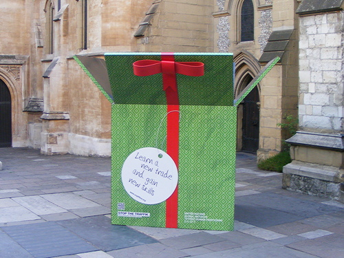 Step in to the Stop the Traffik 'Gift Box' at Southwark Cathedral