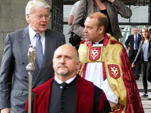 Icelandic president at Southwark Cathedral for Nordic service
