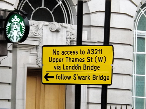Olympic diversion sends Southwark Bridge motorists to Trinity Church Square