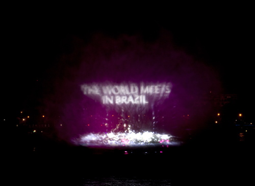 Projections on Thames mark Olympic handover from London to Rio