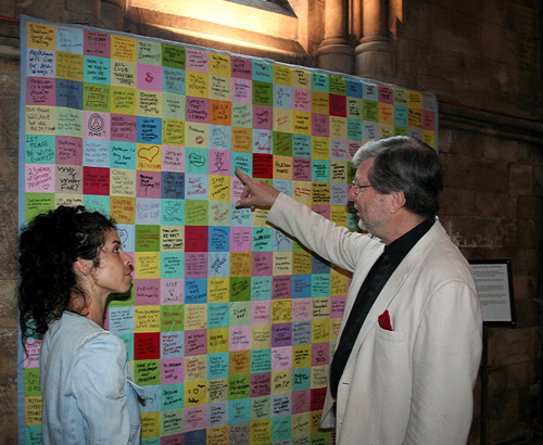 Peckham post-riot Post-it note patchwork on show at cathedral