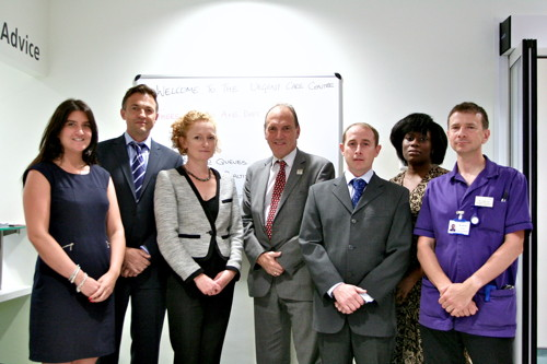 Simon Hughes opens Guy's Hospital urgent care centre