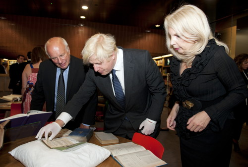 Boris Johnson at BFI Southbank for opening of BFI Reuben Library