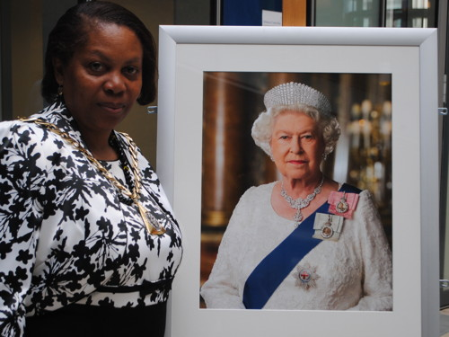 Cllr Althea Smith with the new portrait