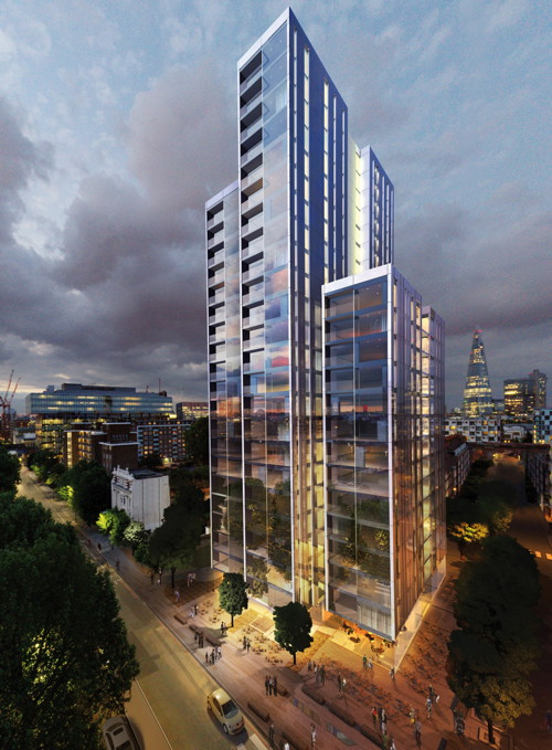 Linden Homes reveals plans for tall building in Blackfriars Road