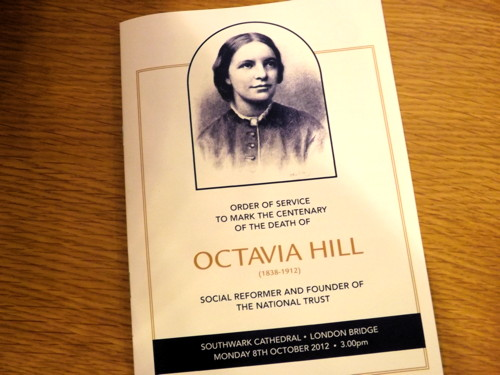 Octavia Hill remembered at Southwark Cathedral a century after her death