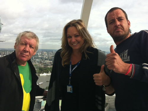 Former South Bank rough sleepers taken for ride on London Eye